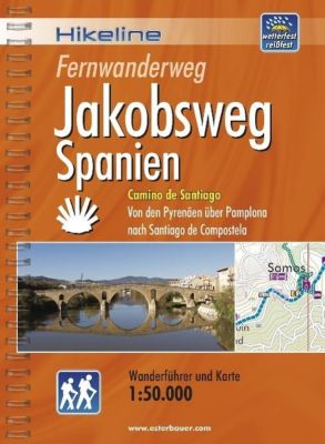 Hikeline Wanderführer Fernwanderweg Jakobsweg Spanien