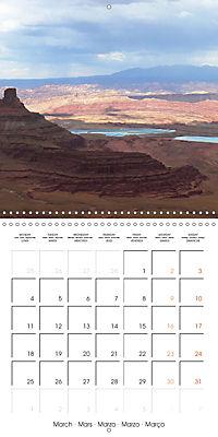 Hiking on the Colorado Plateau (Wall Calendar 2019 300 × 300 mm Square) - Produktdetailbild 3