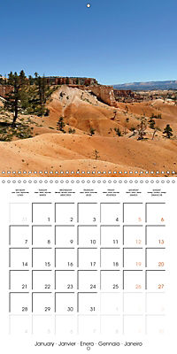 Hiking on the Colorado Plateau (Wall Calendar 2019 300 × 300 mm Square) - Produktdetailbild 1