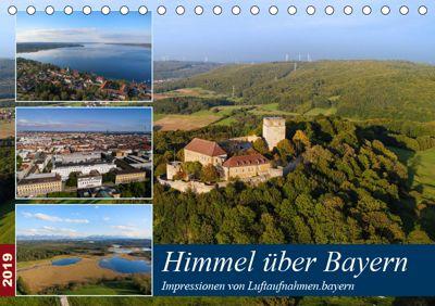 Himmel über Bayern (Tischkalender 2019 DIN A5 quer), Luftaufnahmen. bayern