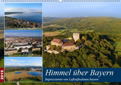 Himmel über Bayern (Wandkalender 2019 DIN A2 quer), Luftaufnahmen. bayern