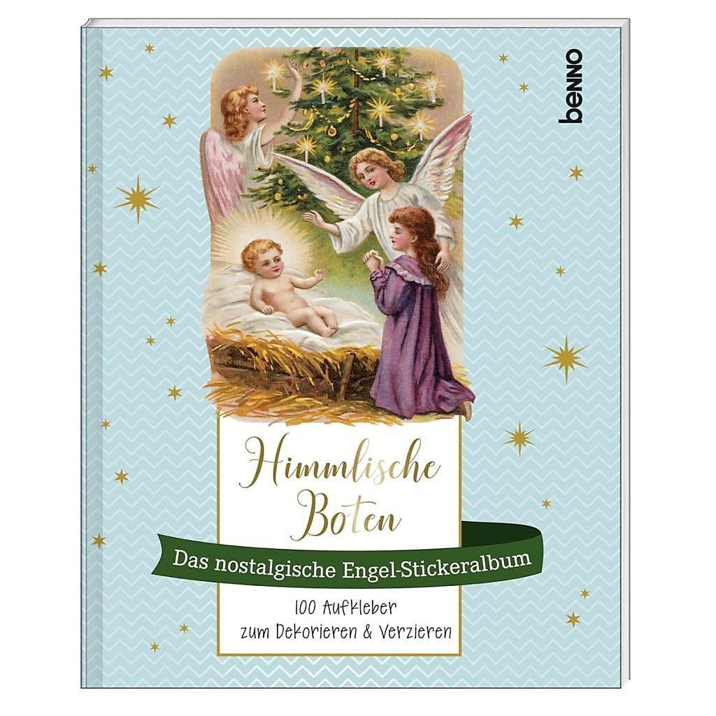 Himmlische Weihnachtsgrüße.Himmlische Boten Das Nostalgische Engel Stickeralbum Buch