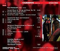 Hindemith: Sinfonische Metamorphosen / Violinkonzert / Konzertmusik op. 50 - Produktdetailbild 1