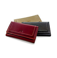 """HIS Damen-Geldbörse """"Monza"""", Langformat, Echtleder (Farbe: schwarz) - Produktdetailbild 4"""