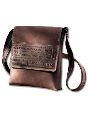 HIS Shoulderbag Lima, Leder (Farbe: Braun)