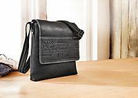 "HIS Shoulderbag ""Lima"", Leder, schwarz - Produktdetailbild 1"