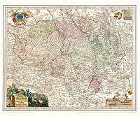 Historische Karte: Oberlausitz, 1727, Johann G. Schreiber