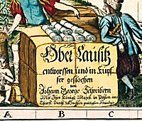 Historische Karte: Oberlausitz, 1727 - Produktdetailbild 1