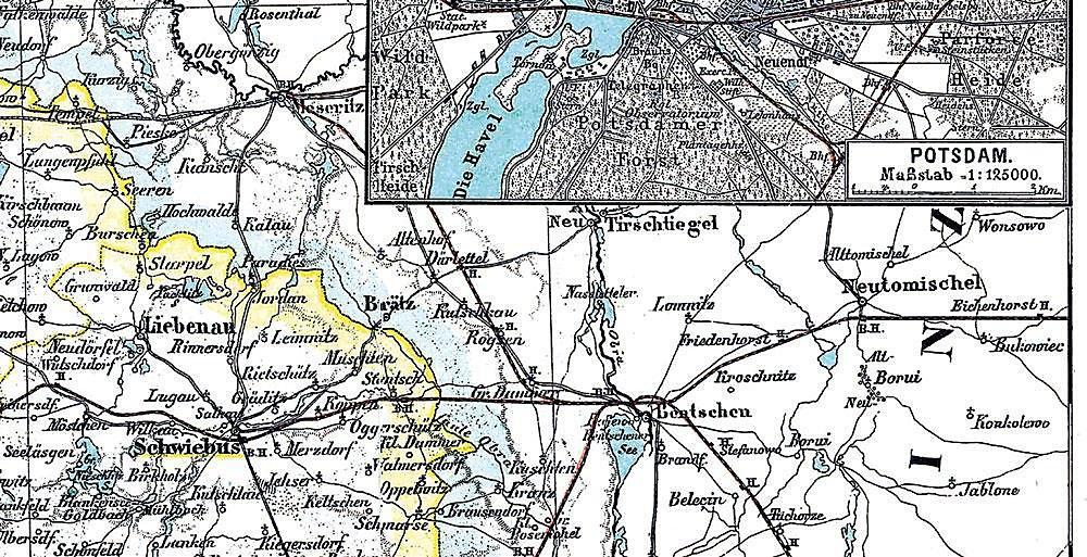 Historische Karte Potsdam.Historische Karte Provinz Brandenburg Im Deutschen Reich