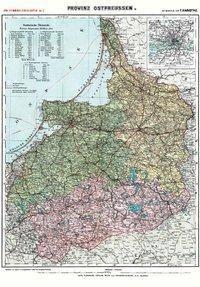 Historische Karte: Provinz Ostpreussen  um 1910 (Plano), Friedrich H. Handtke