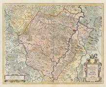Historische Karte St. Hersfeld in Hessen 1635