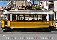 Historische Strassenbahnen in Lissabon (Wandkalender 2019 DIN A4 quer) - Produktdetailbild 4