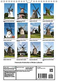 Historische Windmühlen in Minden-Lübbecke (Wandkalender 2019 DIN A4 hoch) - Produktdetailbild 13