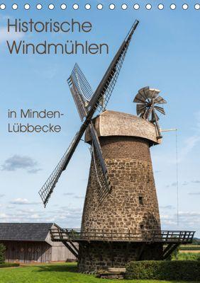 Historische Windmühlen in Minden-Lübbecke (Tischkalender 2019 DIN A5 hoch), Barbara Boensch