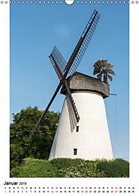 Historische Windmühlen in Minden-Lübbecke (Wandkalender 2019 DIN A3 hoch) - Produktdetailbild 1