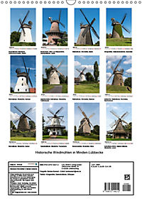 Historische Windmühlen in Minden-Lübbecke (Wandkalender 2019 DIN A3 hoch) - Produktdetailbild 13