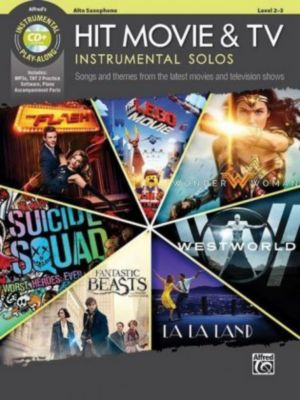 Hit Movie & TV Instrumental Solos, Alto Saxophone, w. Audio-CD, Alfred Music