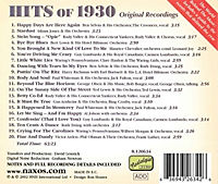Hits Of 1930 - Happy Days Are - Produktdetailbild 1
