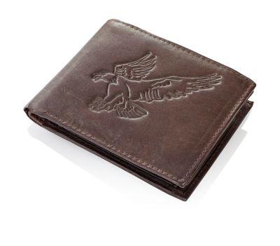 HJP Herren-Geldbörse Eagle Leder, dunkelbraun