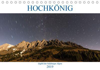 HOCHKÖNIG - Gipfel der Salzburger Alpen (Tischkalender 2019 DIN A5 quer), ferragsoto Fotografie