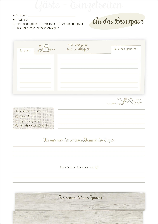 Hochzeits gästebuch