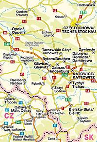 Höfer Straßenkarte Polen - Oberschlesien - Produktdetailbild 2