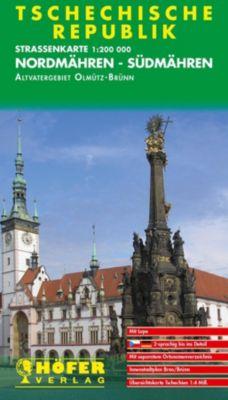 Höfer Straßenkarte Tschechische Republik, Nordmähren-Südmähren