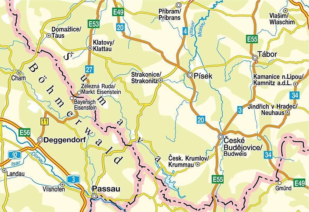 adac landerkarte tschechische republik 1 300 000 adac landerkarten