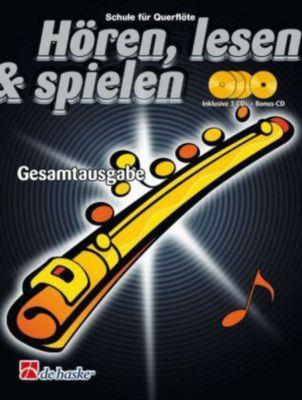 Hören, lesen & spielen, Schule für Flöte, Gesamtausgabe, m. 4 Audio-CDs, Gerdien Wichers, Jaap Kastelein