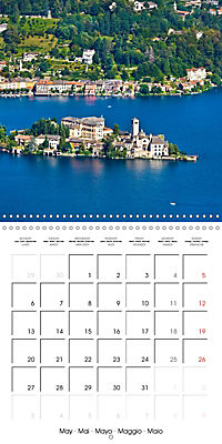 Holiday greetings from the upper Italian lakes (Wall Calendar 2019 300 × 300 mm Square) - Produktdetailbild 5