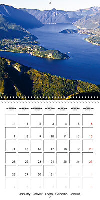Holiday greetings from the upper Italian lakes (Wall Calendar 2019 300 × 300 mm Square) - Produktdetailbild 1
