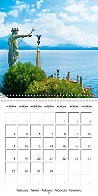 Holiday greetings from the upper Italian lakes (Wall Calendar 2019 300 × 300 mm Square) - Produktdetailbild 2