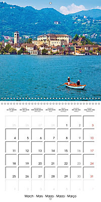 Holiday greetings from the upper Italian lakes (Wall Calendar 2019 300 × 300 mm Square) - Produktdetailbild 3