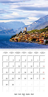 Holiday greetings from the upper Italian lakes (Wall Calendar 2019 300 × 300 mm Square) - Produktdetailbild 4