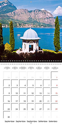 Holiday greetings from the upper Italian lakes (Wall Calendar 2019 300 × 300 mm Square) - Produktdetailbild 9