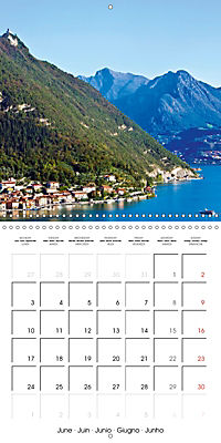 Holiday greetings from the upper Italian lakes (Wall Calendar 2019 300 × 300 mm Square) - Produktdetailbild 6