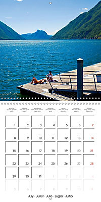 Holiday greetings from the upper Italian lakes (Wall Calendar 2019 300 × 300 mm Square) - Produktdetailbild 7
