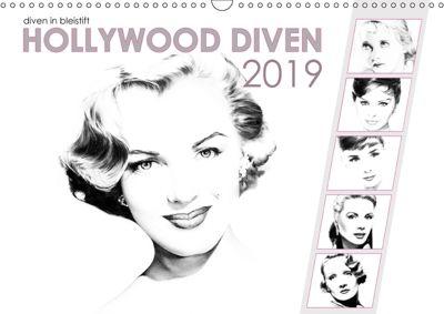 Hollywood Diven in Bleistift 2019 (Wandkalender 2019 DIN A3 quer), Dirk Richter