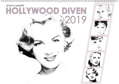 Hollywood Diven in Bleistift 2019 (Wandkalender 2019 DIN A2 quer), Dirk Richter