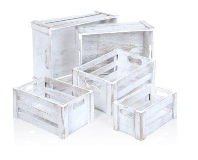 Holz-Boxen, 5er-Set
