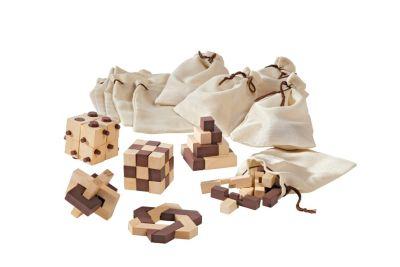 Holz-Knobelspiele, 10er-Set