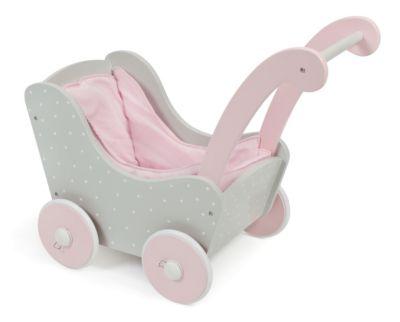 Holz-Puppenwagen Puntos Grey
