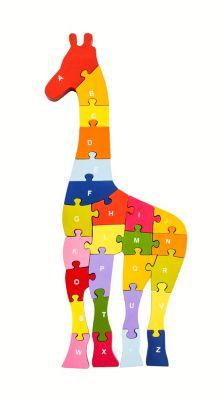 Holz-Puzzle Giraffe A-Z
