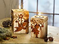 "Holz-Teelichthalter ""Engel"", 2er-Set - Produktdetailbild 1"