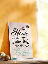 "Holzbild ""Lächeln"" - Produktdetailbild 1"