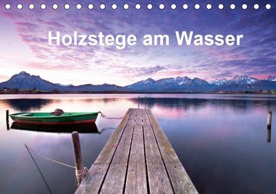 Holzstege am Wasser (Tischkalender 2019 DIN A5 quer), Jenny Sturm
