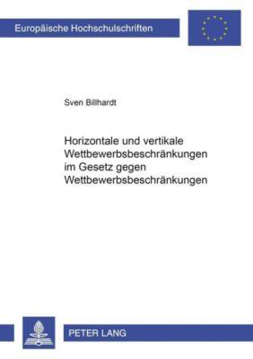 Horizontale und vertikale Wettbewerbsbeschränkungen im Gesetz gegen Wettbewerbsbeschränkungen, Sven Billhardt