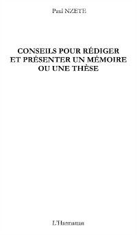 Hors-collection: Conseils pour rediger presenter memoire, Charles Debbasch