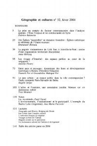 Hors-collection: Geographie et cultures no. 52, Collectif