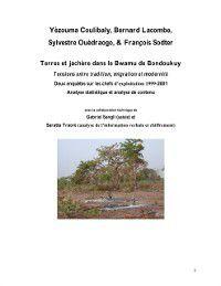 Hors-collection: Terres et jachere dans le bwamu de bondo, Bernard Germain Lacombe